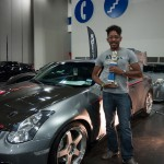 Mr. Samuels and his 1st place trophy best Infiniti.